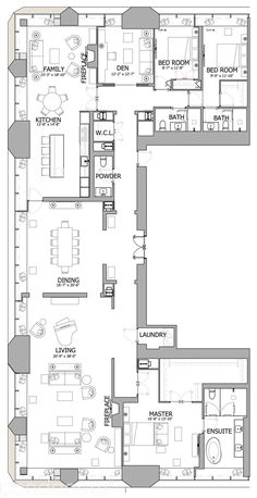 The One Condos by Mizrahi Penthouse Suites 01 3 bed bath Floor Plan see pricing sizes and fees. Sims House Plans, House Layout Plans, Floor Plan Layout, New House Plans, Dream House Plans, Small House Plans, House Layouts, Condo Floor Plans, Hotel Floor Plan