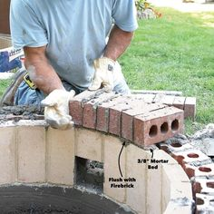 How to Build a DIY Fire Pit — The Family Handyman Paver Fire Pit, Fire Pit Wall, Wood Fire Pit, Concrete Fire Pits, Fire Pit Area, Diy Fire Pit, Fire Pit Backyard, Brick Fire Pits, Camping Fire Pit