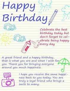 😊 Birthday Wishes For Teacher, Birthday Verses For Cards, Happy Birthday Ecard, Birthday Wishes For Boyfriend, Birthday Cards For Brother, Happy Birthday Quotes For Friends, Happy Birthday My Love, Sister Birthday Quotes, Best Birthday Wishes