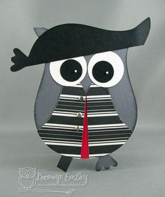 By Bronwyn Eastley. Pirate owl. She made an owl card, but I could use the owl punch and create a little pirate owl!