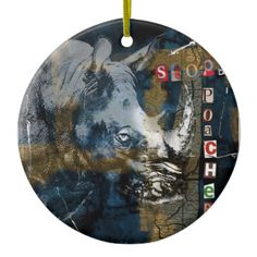 Stop Rhino Poachers Wildlife Conservation Art Ceramic Ornament Sumatran Rhino, Rhinoceros, Wildlife Conservation, Ornament, Display, Ceramics, Design, Art, Floor Space