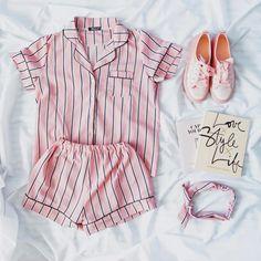 Pajamas For Women Sleepwear Lingerie Vintage Unisex Pajama Pants Black Lingerie Set Sleepwear Sets, Sleepwear Women, Pajamas Women, Summer Pajamas, Cute Pajamas, Black Lingerie, Lingerie Set, Striped Pyjamas, Short Jumpsuit