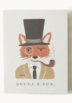 You're A Fox Card By Rifle Paper Co. | Modern Vintage Home & Office