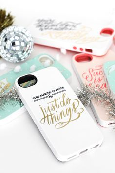 The Everygirl Just Do Things iPhone Case // Victoria McGinley // #inspiration #quotes #giftguide #budgetfriendly // #justdothings