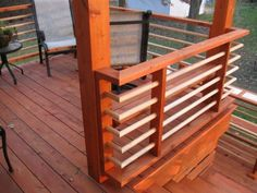 The PT Deck Boards And Lattice Railing Removeal Went Quickly,and Replaced  With Western Red Cedar.The Stain Is Cabots. Horizontal ...
