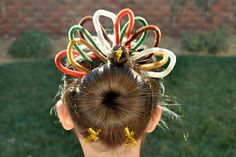 Turkey hair ~ cute for crazy hair day! Holiday Hairstyles, Bun Hairstyles, Pretty Hairstyles, Hairstyle Ideas, Wacky Hair Days, Crazy Hair Days, Fun Buns, Toddler Hair, Little Girl Hairstyles