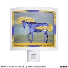 Art Deco Horse with Wind Blown Mane Night Light