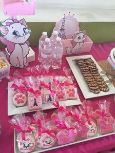 Festa Marie Kitten Party, Cat Party, Cat Birthday, 3rd Birthday Parties, Birthday Ideas, Aristocats Party, First Birthdays, Decoration, Marie Cat