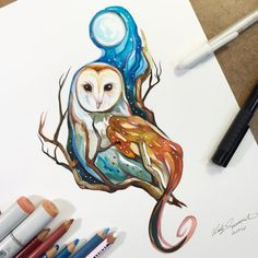 Barn Owl Commission by Lucky978.deviantart.com on @DeviantArt