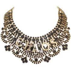 TOM BINNS 'Chaos' statement necklace (8.085 BRL) ❤ liked on Polyvore featuring jewelry, necklaces, accessories, collares, jewels, initial jewelry, statement necklaces, collar necklace, bib collar necklace and jewel necklace
