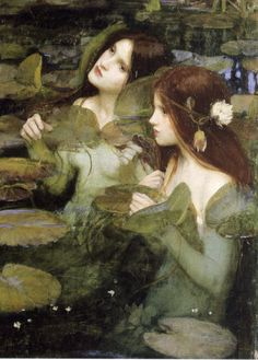 """""""Hylas and the Nymphs"""" (detail). John William Waterhouse. 1896. Oil on canvas. Manchester Art Gallery, Manchester. """""""