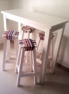 Mesa Arrimé/desayunador/barra De Pino 1.20x1x60 -