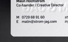 Beautiful Identity And Business Cards For Strom Jag At We Strive Individuality Thats Why Let The People Worki