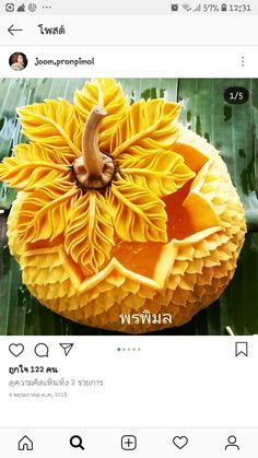 Fruit and vegetables crafts food 58 Ideas Vegetable Crafts, Fruit And Vegetable Carving, Smoothie Recipes With Yogurt, Fruit Recipes, Food Carving, Pumpkin Carving, Veggie Display, Creative Food Art, Fruit Decorations