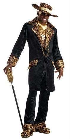 Adult Supa Mac Daddy Pimp Costume - Candy Apple Costumes - 70's Costumes