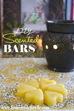 DIY Scented Bars from Homemade for Elle - DIY Scentsy Bars. Learn how to make your own scentsy bars from beeswax and essential oils. Healthy, affordable and easy to make! Homemade Candles, Diy Candles, Diy Wax Melts, Scented Wax, Scented Candles, Citronella Candles, Beeswax Candles, Wax Tarts, Me Time