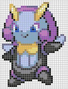 314 Illumise Pixel Art, Smurfs, Art Pokemon, Deviantart, C2c, Grid, Fictional Characters, Patterns, Pokemon Cross Stitch