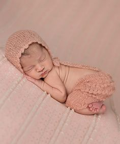 Look at this The Tiny Blessings Boutique Mauve Mohair Pants & Bonnet on #zulily today!