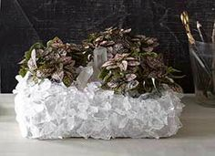 How-Tuesday: Crystal-Encrusted Planter