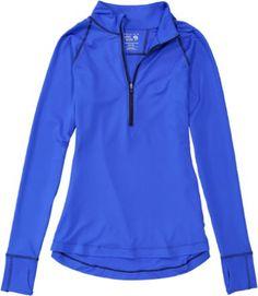 Mountain Hardwear Women's Butterlicious Half-Zip Shirt Bright Island Blue/Indigo XS