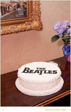 The Beatles Grooms Cake