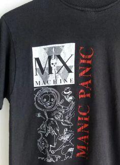 98581623 Vintage 80s MX MACHINE MANIC PANIC No Glam F@gs Danny Anaya Thrash Metal  PROMO Rare T-Shirt