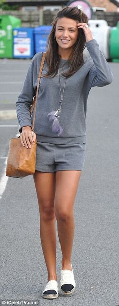 ec92cf6687a Michelle Keegan puts on a leggy display for spot of lunch