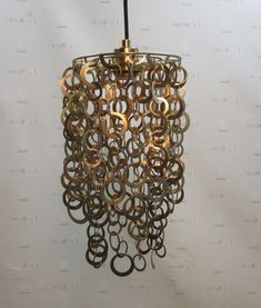 Hanging Light Gold Metal Rings - Warner Bros. Property Department