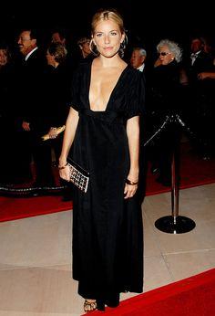 Sienna Miller's super low-cut dress