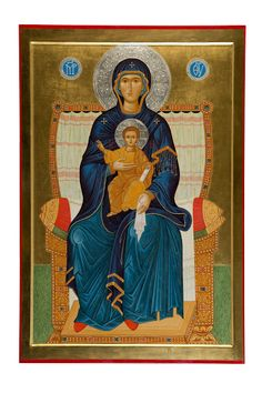 The Mother of God Enthroned, 90x60 cm (2012)