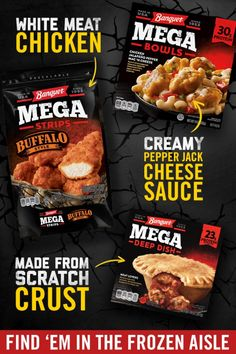 Crave-able ingredients. No matter which one you choose, Banquet MEGA Meals offer an easy dinner idea that's sure to leave an impact. Grab these quick dinners and tasty bold chicken strips in a frozen aisle near you. Keto Friendly Desserts, Low Carb Desserts, Low Carb Recipes, Cooking Recipes, Quick Keto Breakfast, Breakfast Recipes, Breakfast Ideas, Low Carb Side Dishes, Side Dish Recipes