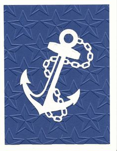 Anchor die from Hobby Lobby.  Blue paper embossed with stars.