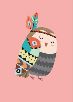 Nursery Canvas, Nursery Prints, Nursery Wall Art, Galaxy Phone Wallpaper, Tribal Animals, Baby Posters, Owl Cartoon, Owl Print, Baby Prints