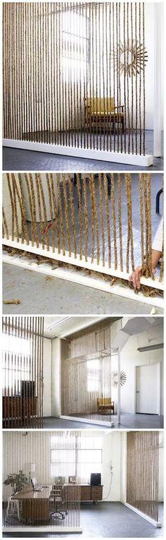 Photo: Una idea #diy para realizar un separador de ambientes ♥ Mas ideas diy en :https://es.pinterest.com/decobeltran/