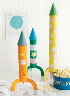 DIY rockets: toilet roll ...Outer space Theme Class Sign and beyond! space, ship, space themed, class sign, poster, display, banner, classroom, signs, space display, rocket, space ship, alien, moon, astronaut,