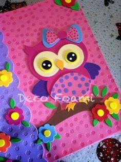 Imagen relacionada Foam Crafts, Diy And Crafts, Crafts For Kids, Arts And Crafts, Paper Crafts, Paper Art, Hippie Birthday, Quiet Book Patterns, Book Sculpture