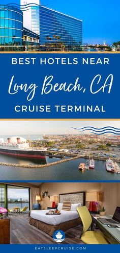 The Best Hotels Near Long Beach Cruise Port | EatSleepCruise.com. In our latest hotel guide, we cover all of the Best Hotels Near the Long Beach Cruise Port to help you find the perfect pre-cruise or post cruise accommodations. #cruise #hotel #hotelguide #California #LongBeach #eatsleepcruise Long Beach Cruise, Long Beach Hotel, Beach Hotels, Packing For A Cruise, Cruise Travel, Cruise Vacation, Cruise Tips, Cruise Excursions, Cruise Destinations
