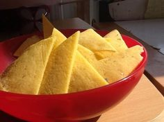 Home made corn tortilla chips