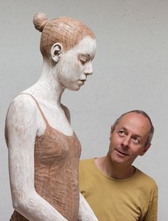 Bruno Walpoth with one of his sculptures