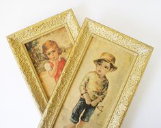 Mederios bigeyed child prints wall hangings by kitschcafe on Etsy, $35.00