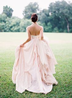 Beautiful Gown by @Carol Hannah Whitfield and hair styling by @Charlotte Belk, Easton Events at Fenwick Hall in Charleston, Photography by @jose villa