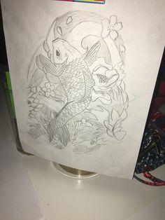 Tattoodesigm#schets#fish#kooikarper