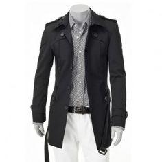 Luxury Men Slim Fit Trench Coat