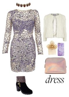 """""""Party On: Long Sleeve Dresses"""" by systemhopex ❤ liked on Polyvore featuring Jovani, Miriam Haskell, Dorothy Perkins, Forever 21, Amrita Singh and longsleeve"""
