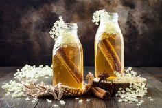 Originálne domáce sirupy: Vynikajúce sú do čaju, na pečenie aj proti kašľu Fromage Vegan, Smoothies, Kombucha Tea, Elderflower, Tea Infuser, Candle Jars, Honey, Nutrition, Apple