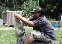 I love this guys personality.  He seems so genuine. Jimmy from the Gator Boys