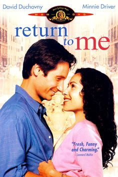 """Return to Me""  (2000) Awesome movie on every level. So many great actors including the late Carroll O'Connor and it was directed and co-written by the amazing Bonnie Hunt who also starred in it. I truly love this movie. The story, the acting , the music... Beautifully done !"