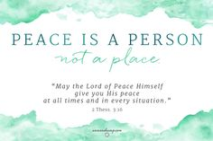 If Worry is practicing the absence of God's presence --  then let's just hold the grace of practicing the presence of Him whose very name is Peace.  Peace is never a place --- but always a Person. Practicing keeping company with Him, Peace... just might make every place worry-free today.