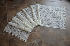 Ravelry: Project Gallery for Peacock Tail and Leaf Scarf pattern by Nancy Bush
