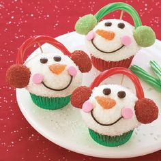 Snowman Christmas Cupcake Ideas